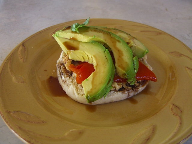 English Muffin and Avocado Delight -- Epicurean  Vegan