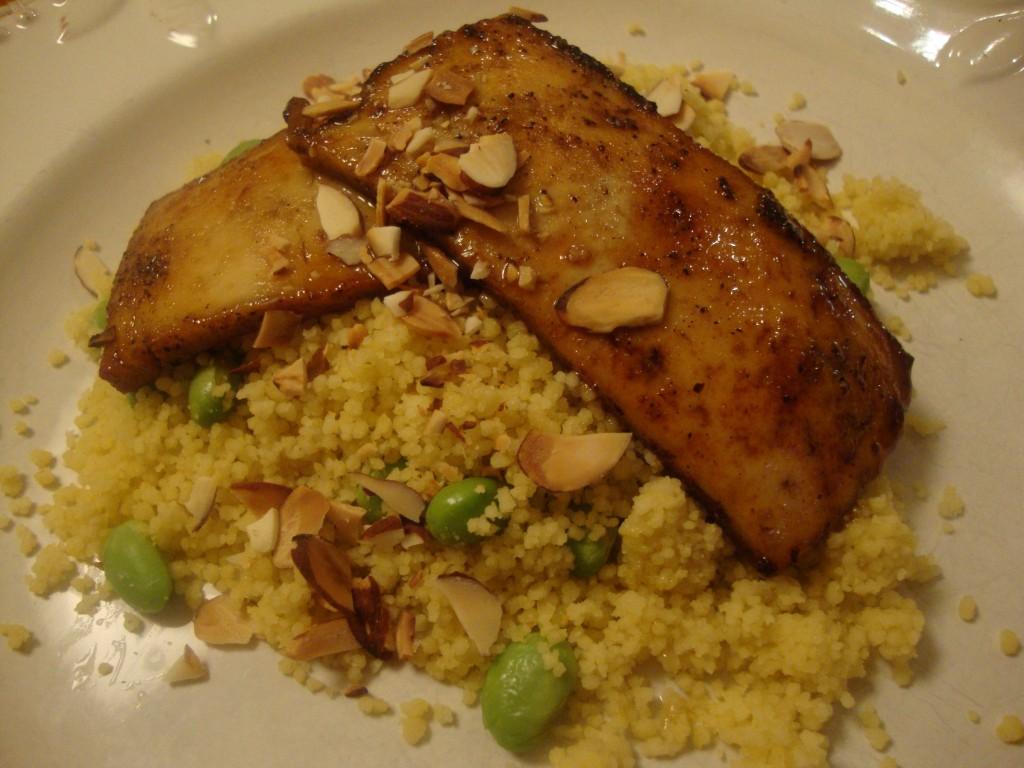 Honey-Glazed Tofu on Couscous -- Epicurean Vegan