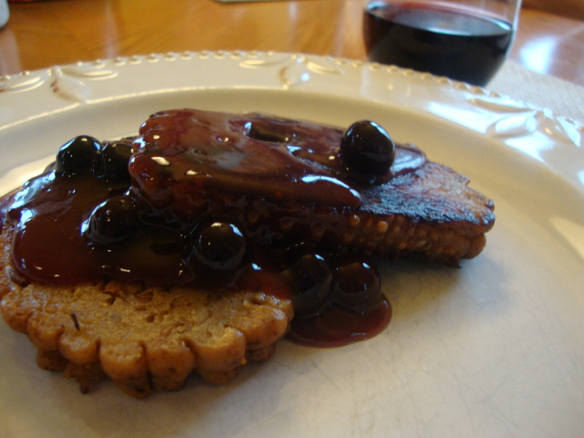 Field Roast with Fresh Blueberry Sauce -- Epicurean Vegan