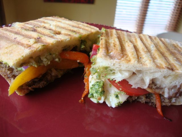 Vegetable Panini with Pesto -- Epicurean Vegan