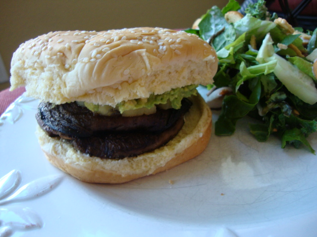 Portobello Burgers -- Epicurean Vegan