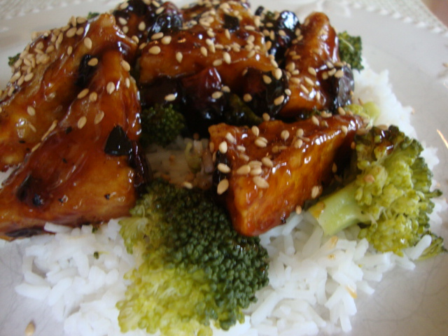 Broccoli Almond Sweet-and-Sour Tofu -- Epicurean Vegan