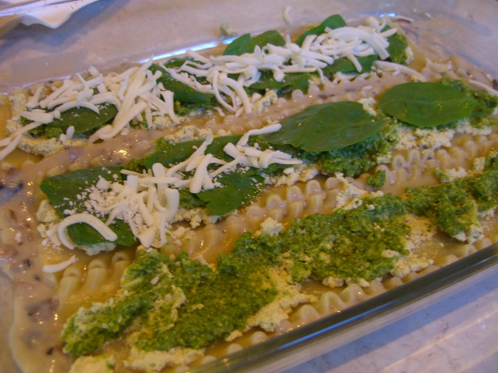 Spinach and Pesto Lasagna -- Epicurean Vegan