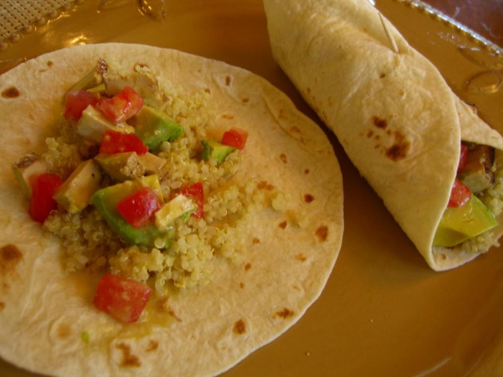 Quinoa Wraps -- Epicurean Vegan