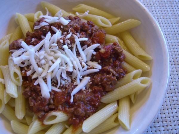 "Pasta with ""Meat"" Sauce -- Epicurean Vegan"