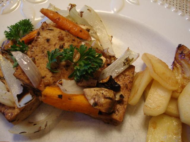 Savory Tofu and Sauteed Apples -- Epicurean Vegan