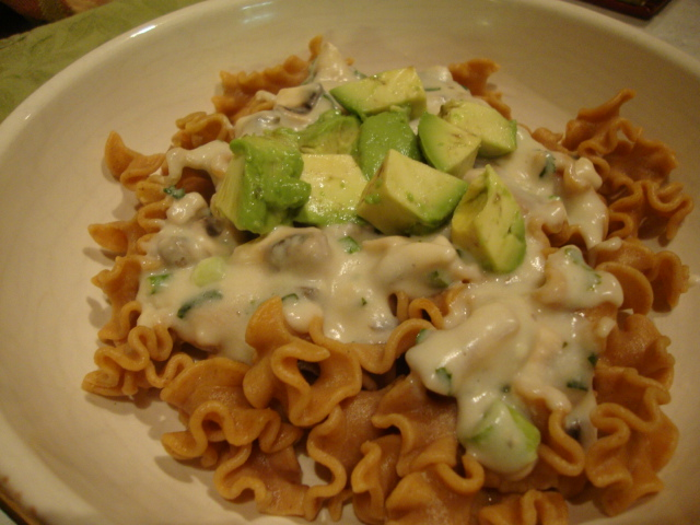 Chipotle-Lime Pasta with a Cream Sauce and Avocado -- Epicurean Vegan