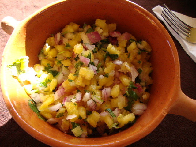 Pineapple Salsa -- Epicurean Vegan