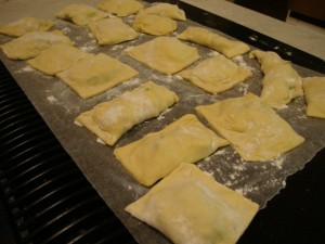Spinach and Mushroom Ravioli -- Epicurean Vegan