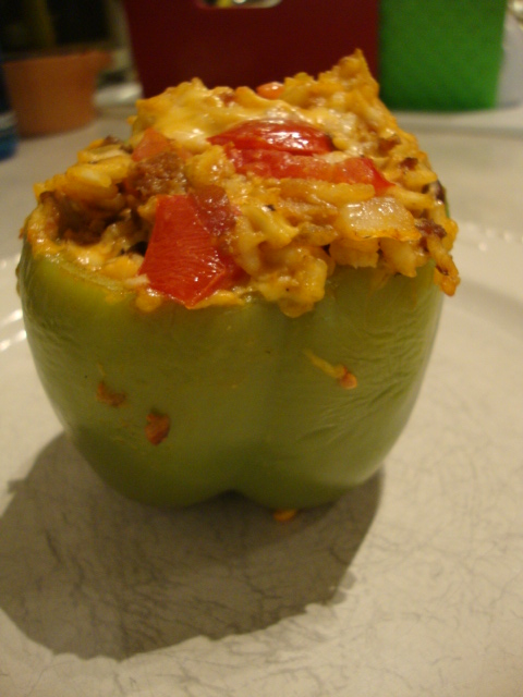 Field Roast-Stuffed Bell Peppers -- Epicurean Vegan