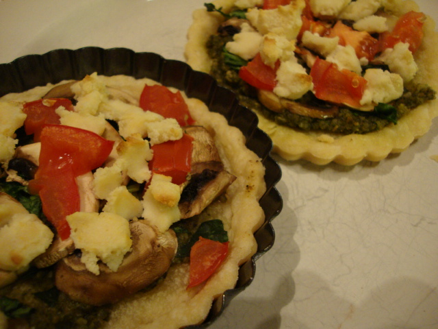 Spinach and Mushroom Tarts -- Epicurean Vegan