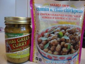 Thai Green Curry Chickpea Burritos -- Epicurean Vegan