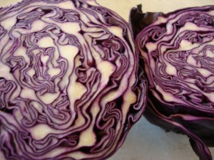 Red Cabbage Slaw with Truffle Dressing -- Epicurean Vegan