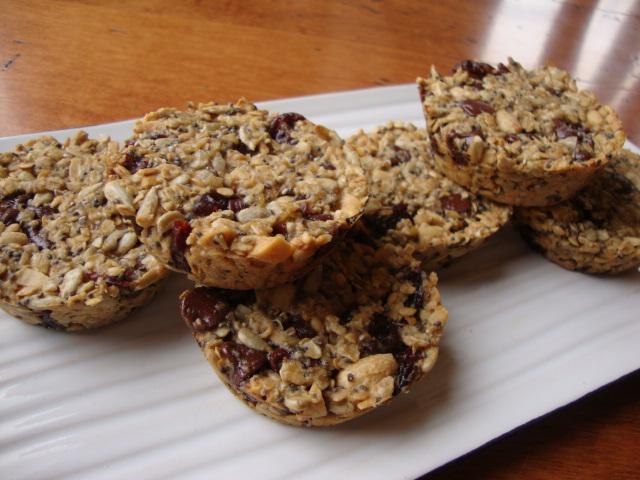 Peanut Butter, Chocolate and Cherry Granola Bites -- Epicurean Vegan