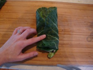 Collard Green Wraps with Tahini-Umeboshi Sauce -- Epicurean Vegan