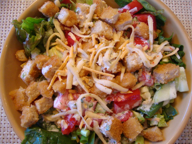 "Crispy ""Chicken"" Salad -- Epicurean Vegan"