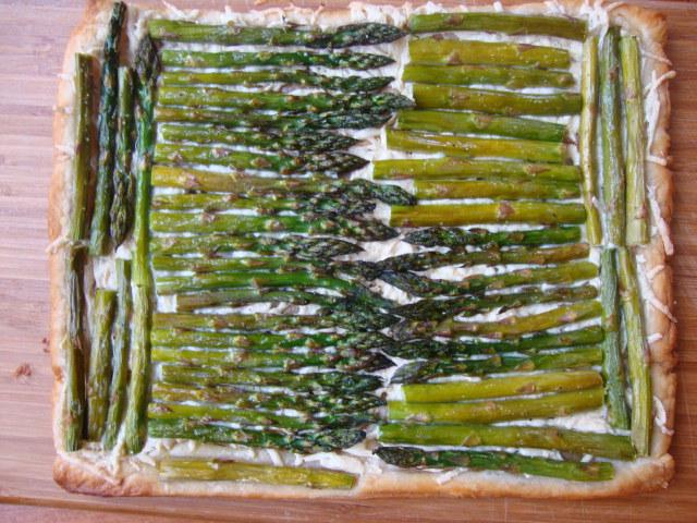 Savory Asparagus Tart -- Epicurean Vegan