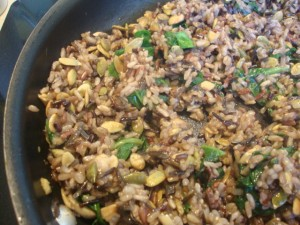 Wild Rice, Mushroom and Spinach Stuffed Peppers -- Epicurean Vegan