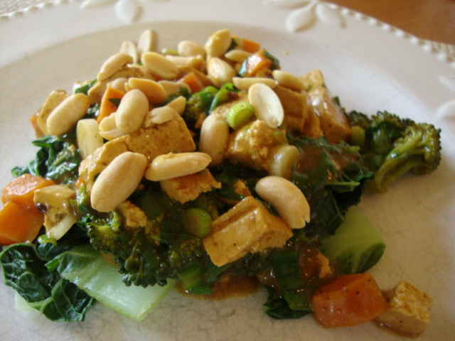 Curried Yam, Tofu & Broccoli -- Epicurean Vegan