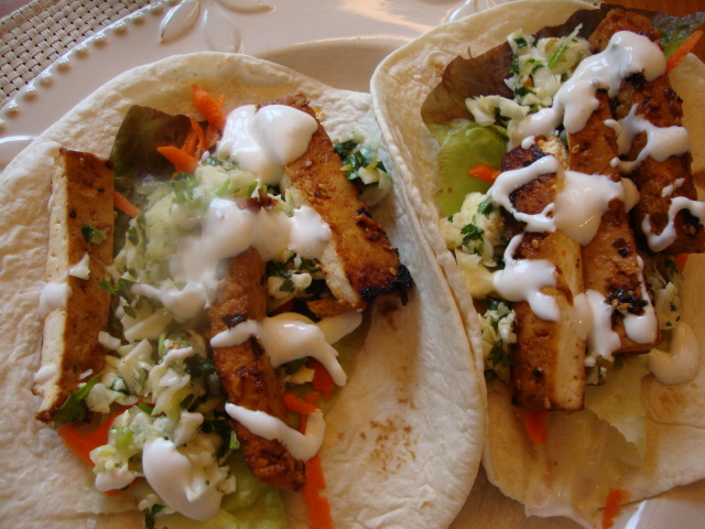 Tacos with Pear Cilantro Slaw -- Epicurean Vegan