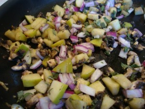 Acorn Squash Stuffed with Apples, Mushrooms and Sage -- Epicurean Vegan