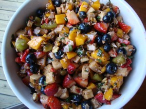 Fruit Salad with Herbs and Coconut -- Epicurean Vegan