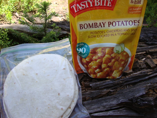 Tasty Bite Bombay Potatoes, Backpacking Made (Vegan) Easy -- Epicurean Vegan