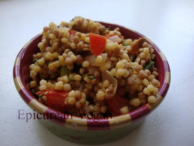 Couscous and Roasted Asparagus Salad -- Epicurean Vegan