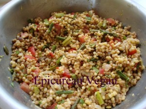 Couscous and Roasted Asparagus Salad -- Epicurean Vegan