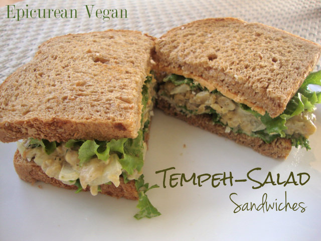 Tempeh-Salad Sandwich -- Epicurean Vegan
