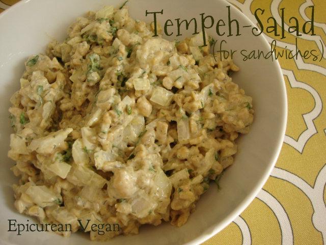 Tempeh-Salad Sandwich -- Epicurean Vegan