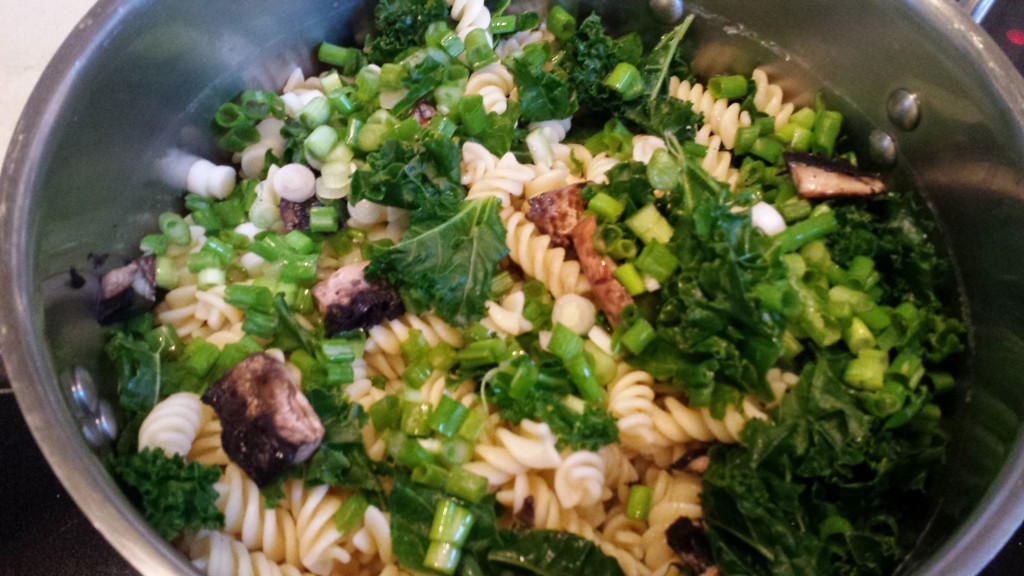 Creamy Kale and Mushroom Pasta -- Epicurean Vegan