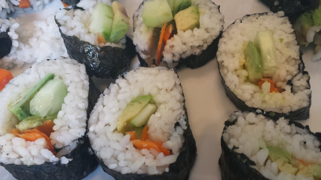 Homemade Veggie Sushi Rolls -- Epicurean Vegan