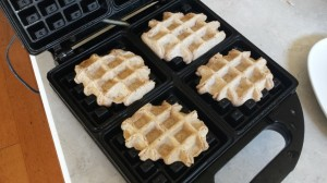 Lemon-Pecan Waffles -- Epicurean Vegan