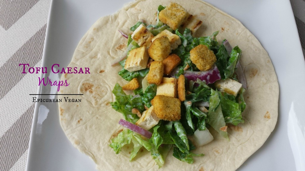 Tofu Caesar Wraps -- Epicurean Vegan