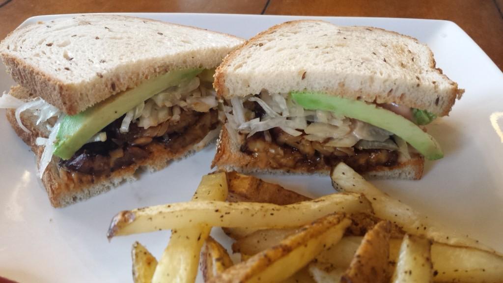 Tempeh-Avocado Reuben Sandwich -- Ep