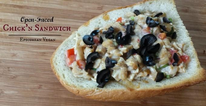 Open-Faced Chick'n Sandwich
