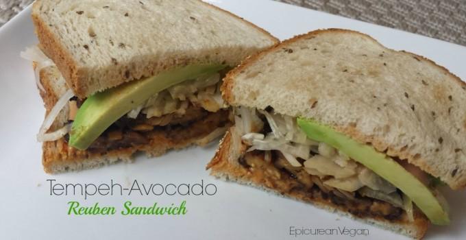 Tempeh-Avocado Reuben Sandwich