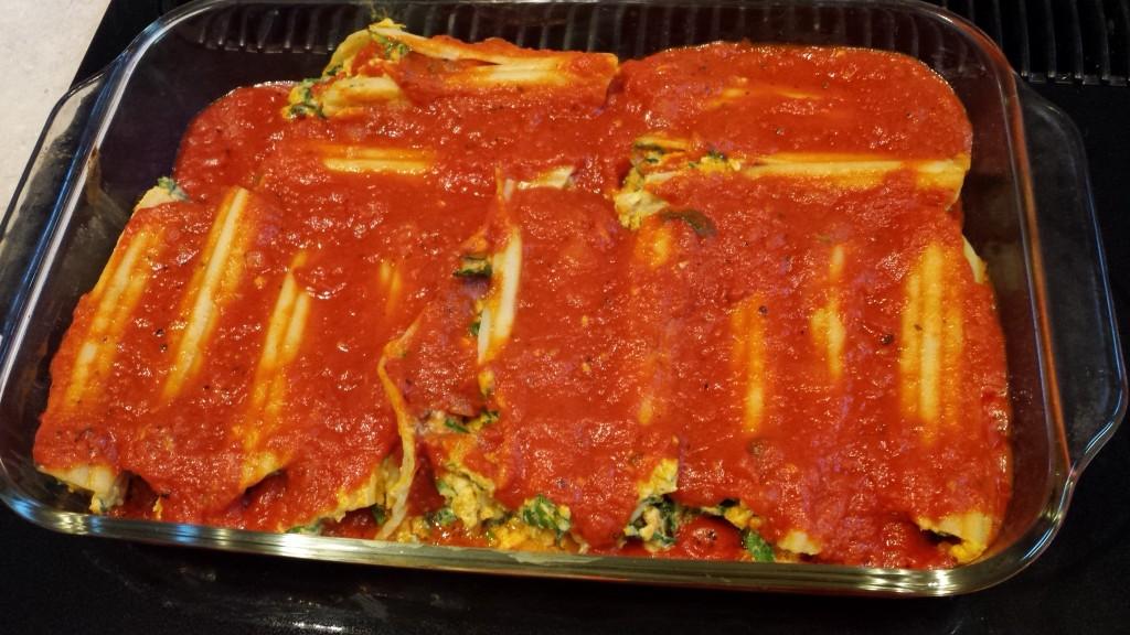 Manicotti stuffed with Spinach, Butternut Squash and Ricotta ...