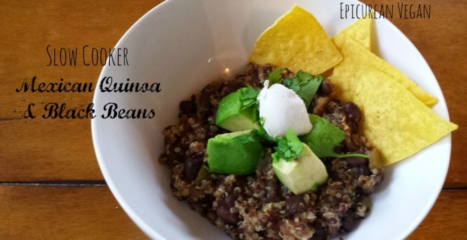 Slow Cooker Mexican Quinoa & Black Beans