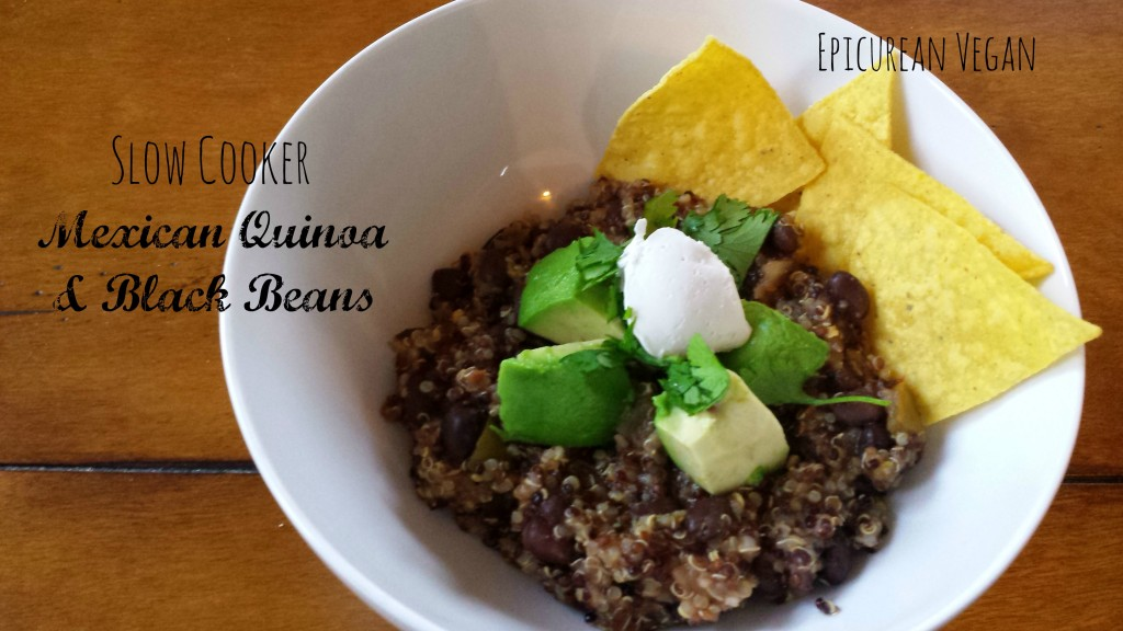 Slow Cooker Mexican Quinoa and Black Beans -- Epicurean Vegan