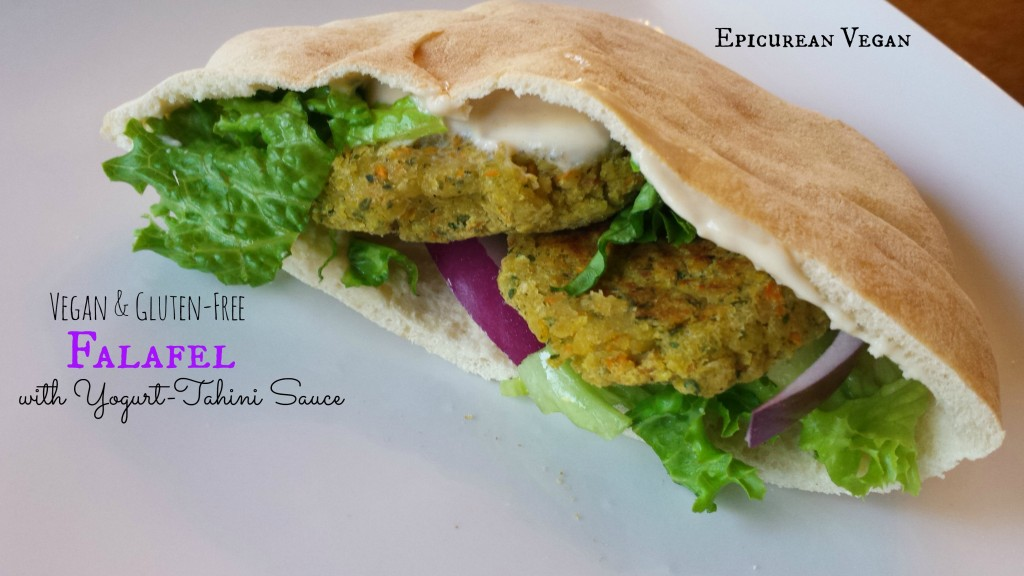 Vegan and Gluten-Free Falafel with Yogurt-Tahini Sauce -- Epicurean Vegan