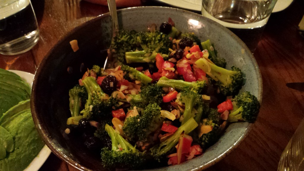 Broccoli Salad with Dried Cranberries and Shallot Dressing