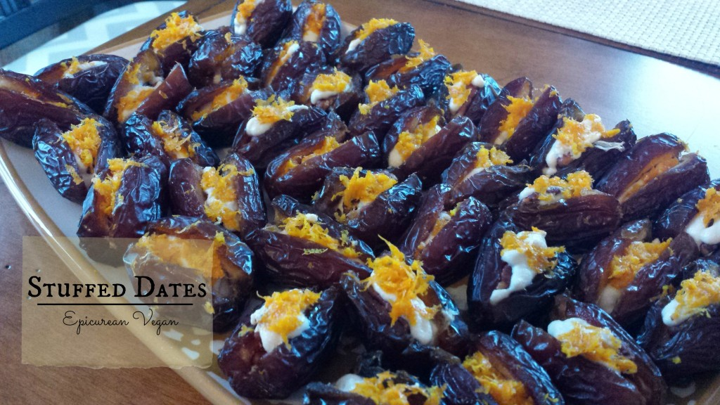 Stuffed Dates -- Epicurean Vegan