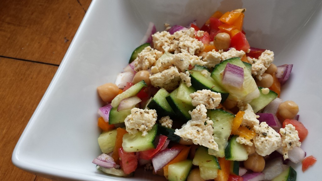 Chopped Greek Salad with Tofu Feta -- Epicurean Vegan