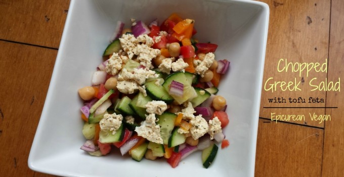 Chopped Greek Salad with Tofu Feta