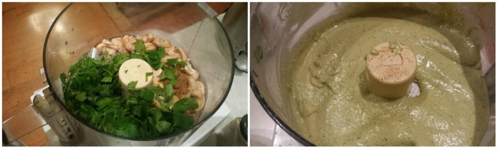 Loaded Baked Potatoes, Cilantro-Cashew Cream -- Epicurean Vegan