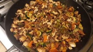 Quinoa Stir-fry with Avocado -- Epicurean Vegan