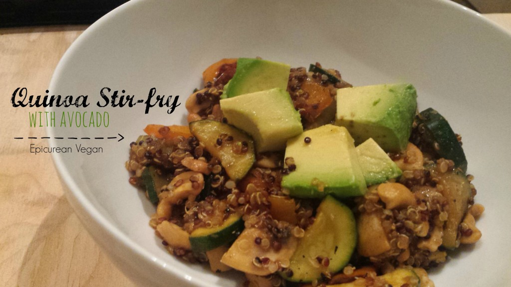 Quinoa Stir-Fry with Avocado -- Epicurean Vegan