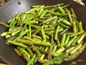 Sauteed Asparagus & Chickpeas Over Herbed Brown Rice -- Epicurean Vegan